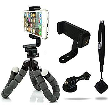 KCOOL Octopus Style Portable and Adjustable Tripod Stand Holder for iPhone, Cellphone,Camera with Universal Clip and Remote (Black)  for $8.23 @amazon (amazon lightning deal)