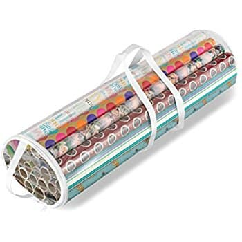 "Whitmor Clear Gift Wrap Organizer for 30"" Rolls at REDUCED PRICE $4.95 @amazon (51% off)"