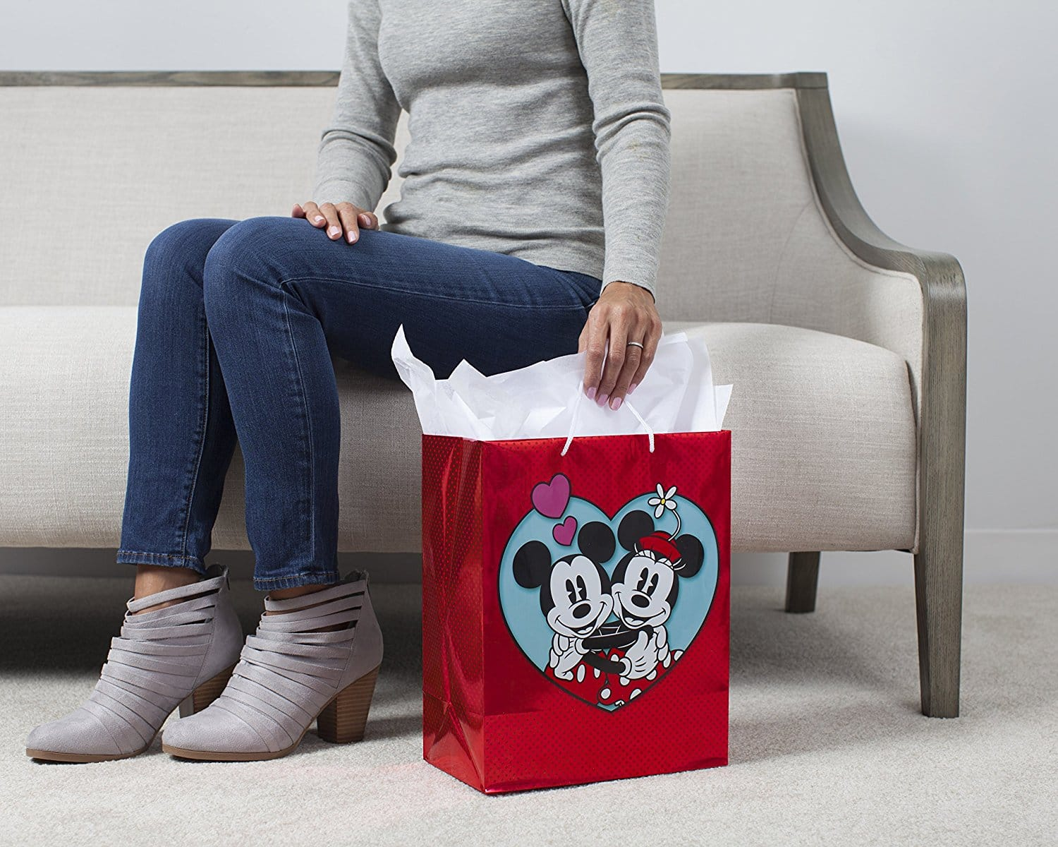 Hallmark Valentine's Day Large Gift Bag (Mickey & Minnie in Heart) for  $2.99  @amazon