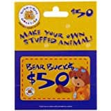 Build-A-Bear Gift Card $40.00 for $50 card as Lightning deal @amazon (expires by 6pm PST)