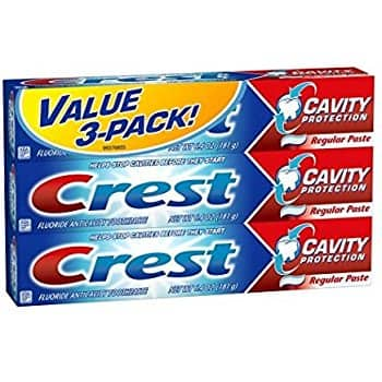 Crest Cavity Protection Fluoride Anticavity Regular Toothpaste 6.4 Oz, 3-pack for $5.00 (54% off) @amazon