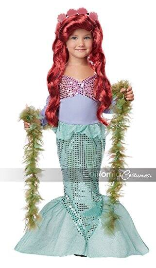 Lil' Mermaid Girl's Costume at its best price (Medium 3-4) $11.41 @amazon