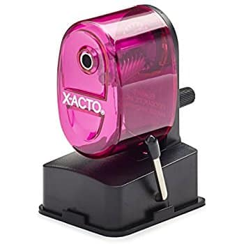 X-ACTO Bulldog Vacuum Mount Manual Pencil Sharpener, Assorted Colors for Reduced Price $7.99 @amazon