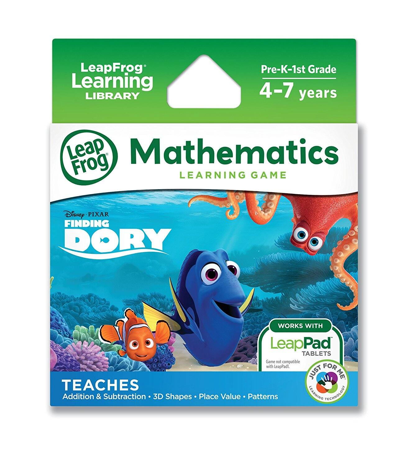 LeapFrog Disney/Pixar Finding Dory Learning Game (for LeapPad Platinum, LeapPad Ultra, LeapPad2, LeapPad3) at its Best Price $4.99 (56% off) @amazon