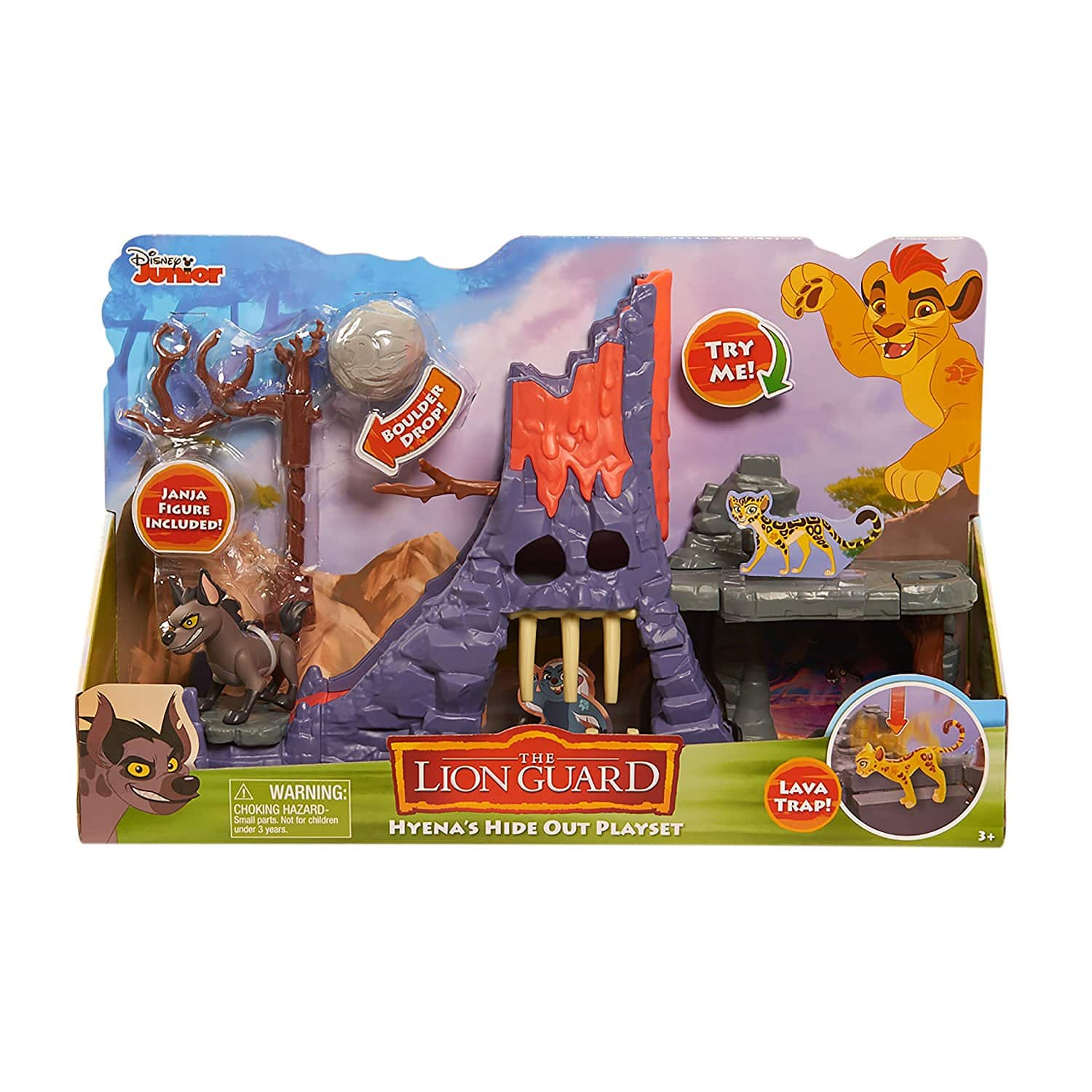 Just Play Disney Junior The Lion Guard Hyena's Hideout Playset (with Janja Figure) at its Best Price $4.41 (78% off) @amazon as add-on item