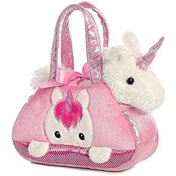 Aurora World Fancy Pals Pet Carrier, Peek-A-Boo Unicorn at reduced price $10.39 and also Husky $10.42, Kitty $8.10, Princess Puppy $9.46 @amazon