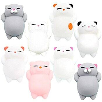 Squishies YESONE 8 Pcs - Squishy Cats Stress Reduce Animal toys at Reduced price $6.55 (45% off) @amazon