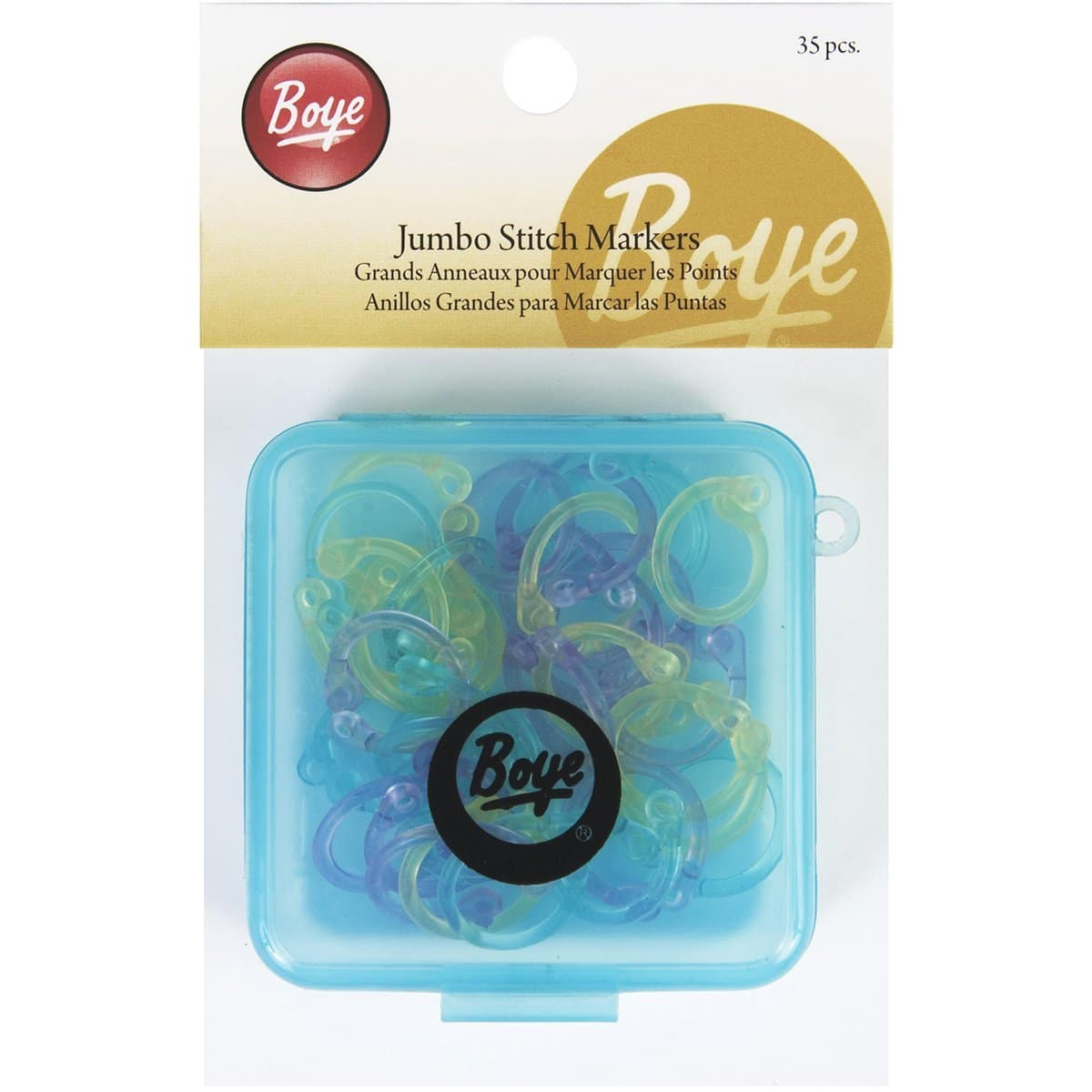 Boye 7582 Jumbo Stitch Markers for Sizes 0 to 15, 35-Pack  at its Best Price  $2.69 @amazon