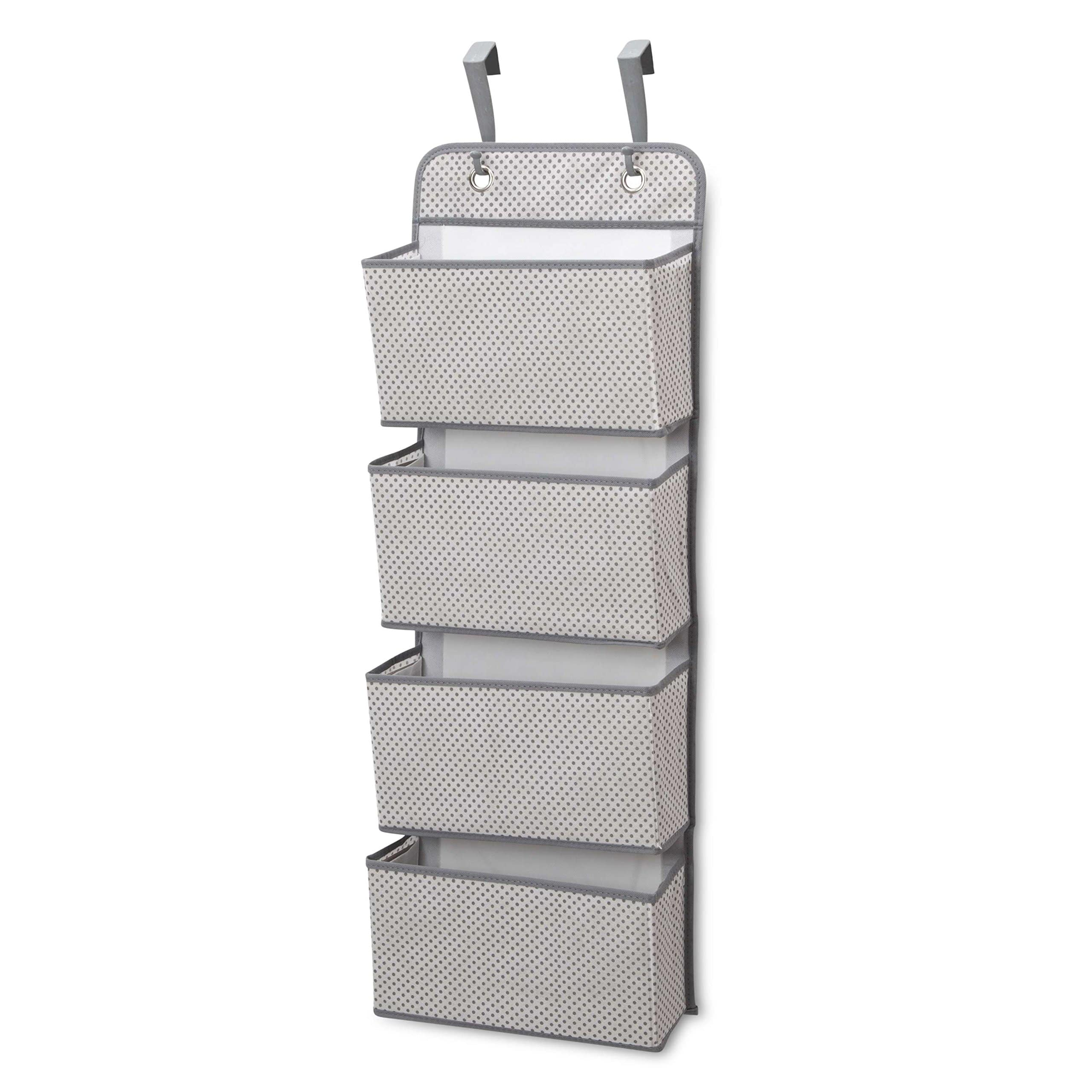 Delta Children 4-Pocket Hanging Wall Organizer, Grey  for reduced price $4.99 (37% off) @amazon as Add-on item