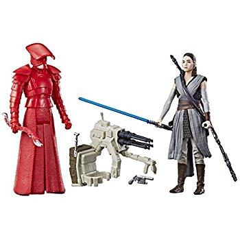 Star Wars: The Last Jedi Rey and Elite Praetorian Guard Figure 2-Pack 3.75 Inches for $10.98 @amazon
