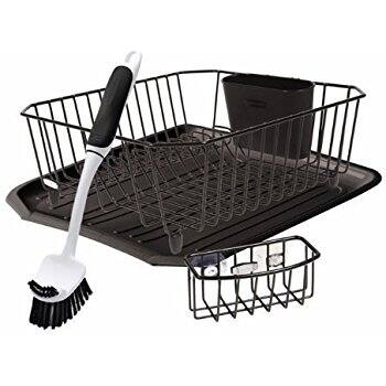 Genial Rubbermaid Antimicrobial Sink Dish Rack Drainer Set For $15.33 (50% Off)  @amazon