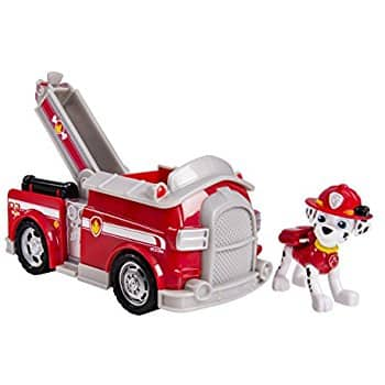 Paw Patrol Marshall's Fire Fightin' Truck/Rescue Marshall (works with Paw Patroller) for $8.75 @amazon, Walmart