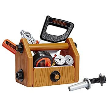 Black + Decker Junior Deluxe Tool Set with Toolbox - 42 Tools & Accessories at its best price $13.79 @amazon