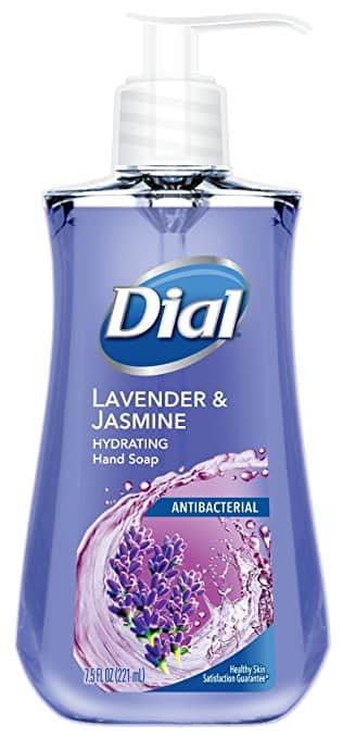 Dial Antibacterial Liquid Hand Soap, Lavender & Twilight Jasmine, 7.5 Fluid Ounces at its best price - $1.04 @amazon with  S & S as Add-on item