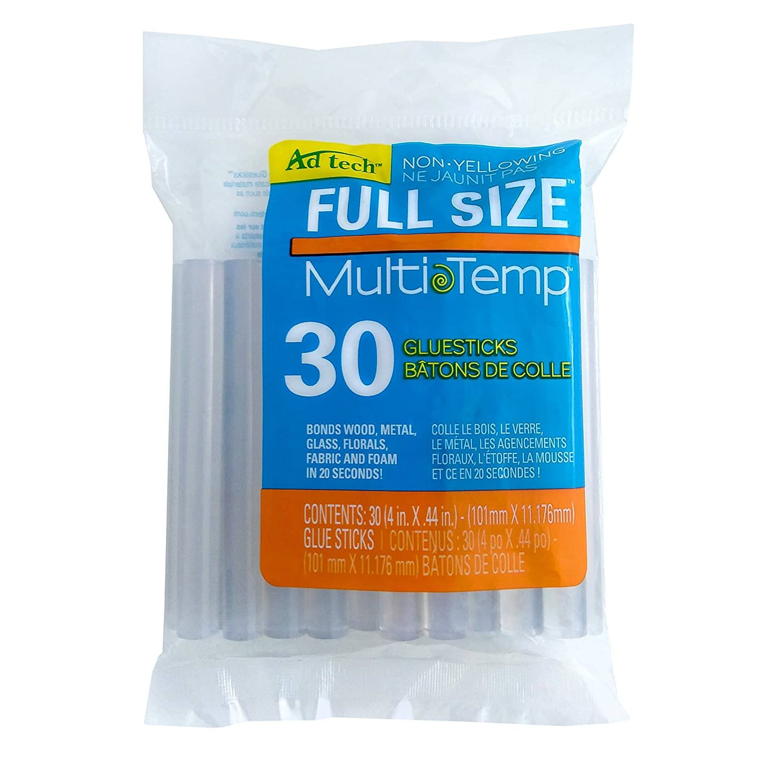 Multi Temp Full Size Glue stick, 4-Inch, 30-Pack at its best price - $2.78 (or $2.22 if 20% coupon visibe, it maybe user dependant) @amazon as Add-on item