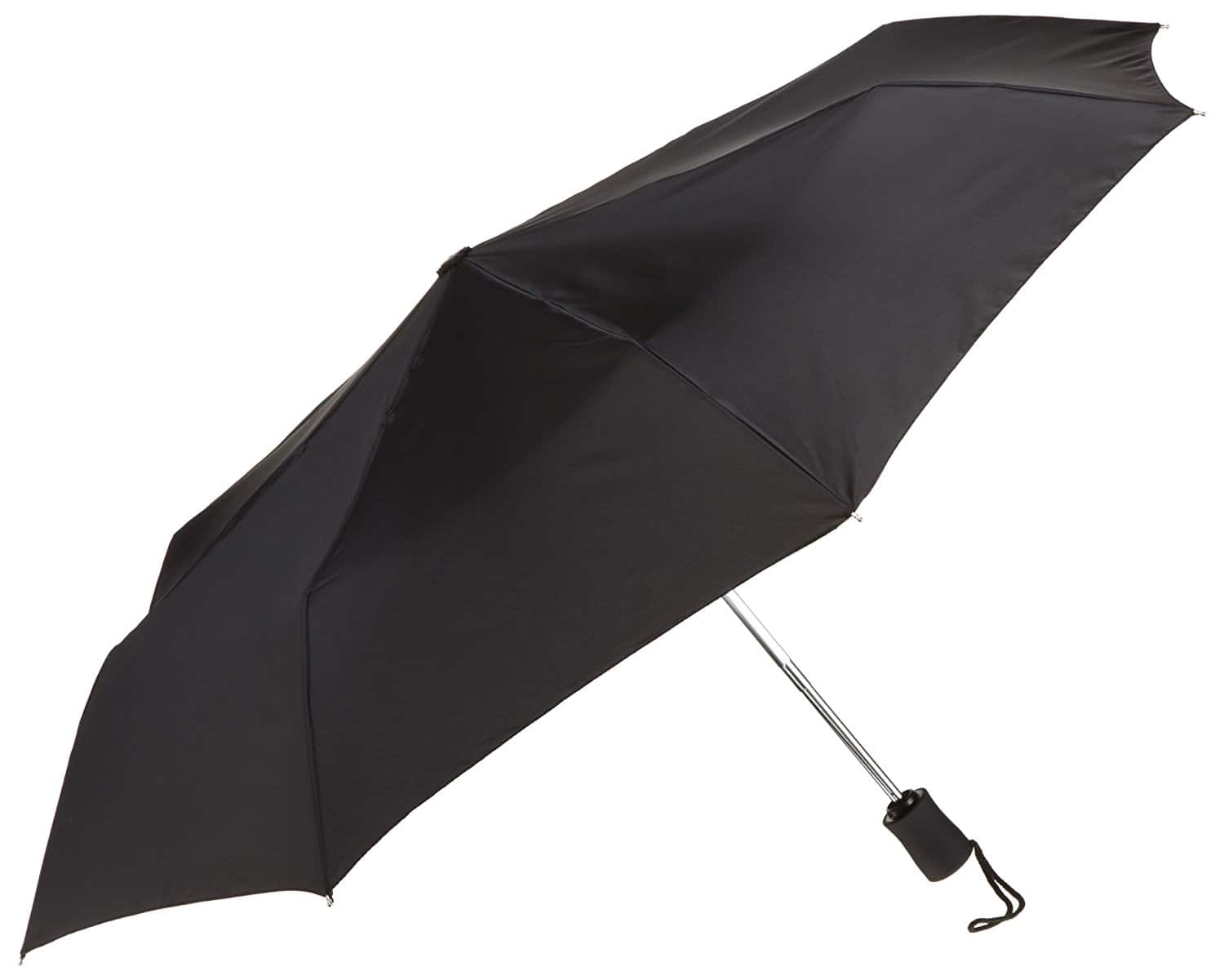 Lewis N. Clark Compact & Lightweight Travel Umbrella Opens & Closes Automatically, Black, One Size at its best price $9.99 @amazon, Walmart