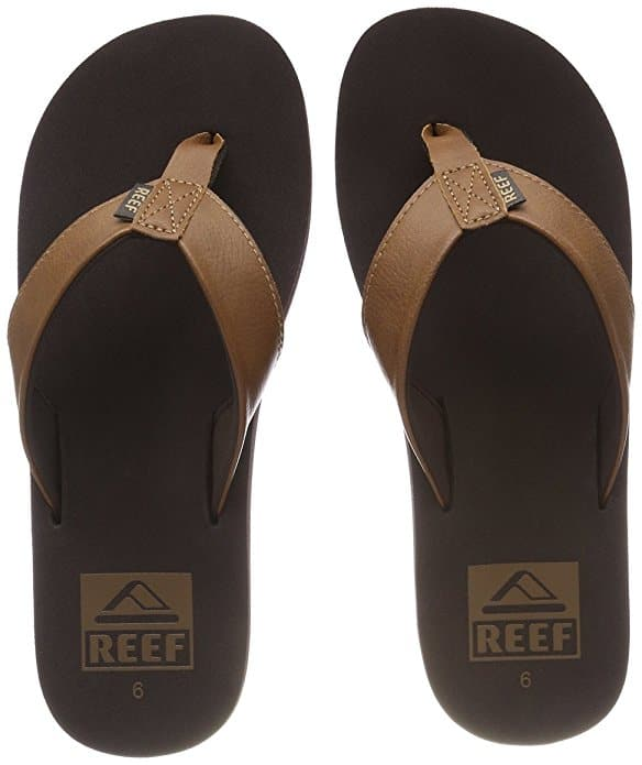 Reef Twinpin Mens Sandals, Size 12 D(M) US for $12.99 (50% off), Color Brown only @amazon