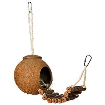 Prevue Hendryx Naturals Coco Hideaway with Ladder Bird Toy for reduced price - $4.50 @amazon as Add-on item