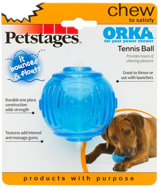 Petstages ORKA Tennis Ball Dog Chew Toy for reduced price -$3.28  @amazon (Add-on item), chewy.com