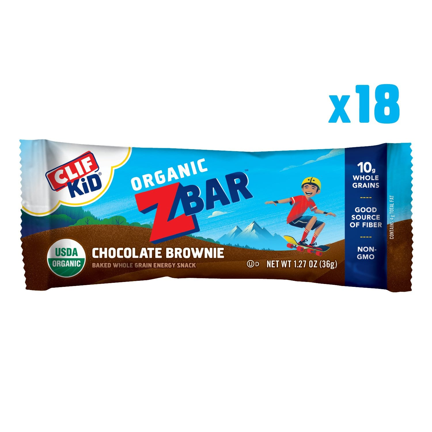 CLIF KID ZBAR - Organic Energy Bar - Chocolate Chip - (1.27 Ounce Snack Bar, 18 Count) - $8.54 @amazon with S & S as Add-on item