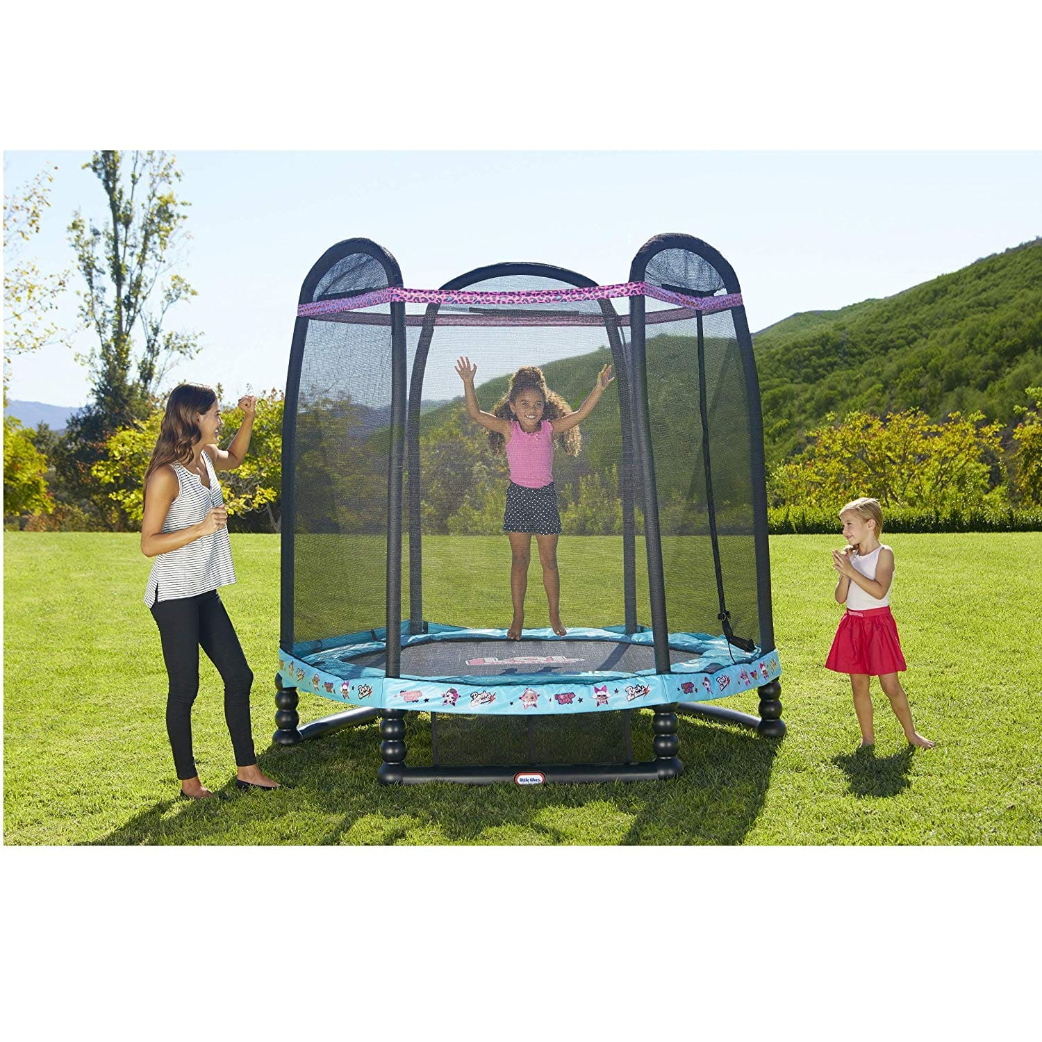 L.O.L. Surprise! Little Tikes 7' Enclosed Trampoline with Safety Net $66.74 free ship - Amazon