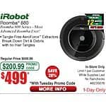 Frys: Roomba 880 $499.99 After email Promo Code