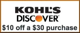$10 Kohls Cash for Discover Card holders (Back) with 12/31/2015 Expiration Date (YMMV)