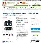 Canon EOS 6D + Pixma Pro-100 + SG-201 paper $1299 AR @ B&H