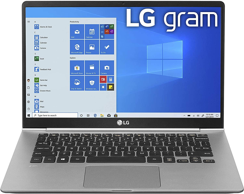 """LG Gram Laptop - 14"""" Full HD IPS, Intel 10th Gen Core i5 (10210U CPU), 8GB DDR4 RAM, 512GB NVMeTM SSD 14Z995-U.A $796.99"""