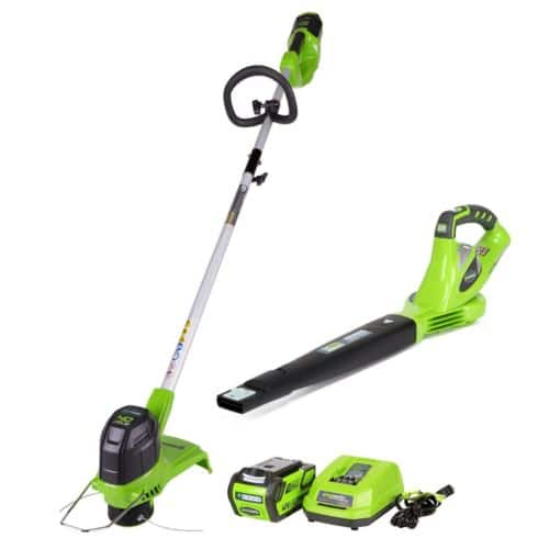 Greenworks Trimmer and Blower Combo with 40V Battery/Charger - $99.99 Free Shipping