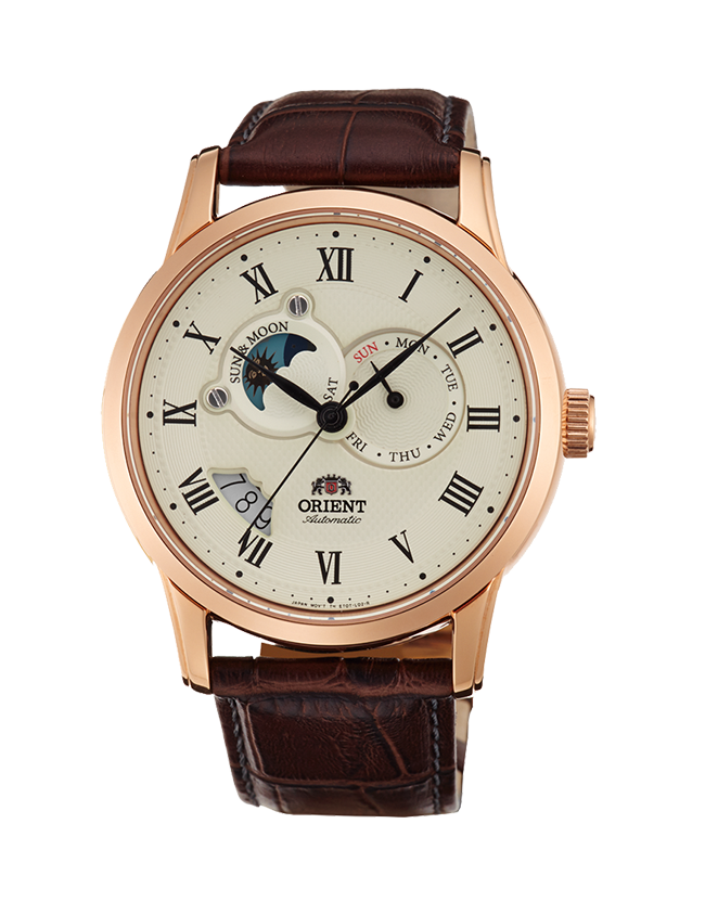 Men's Orient Sun and Moon V2 Automatic Watch Gold $189.95