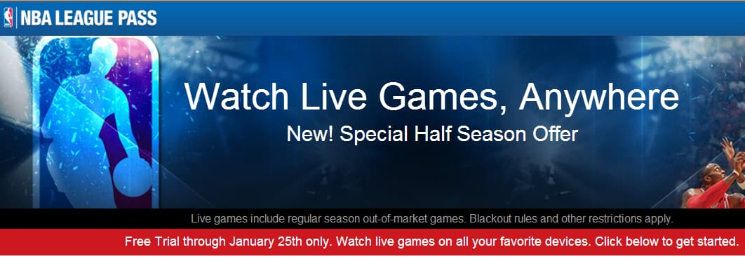 NBA League Pass Free Trial Till 1/25