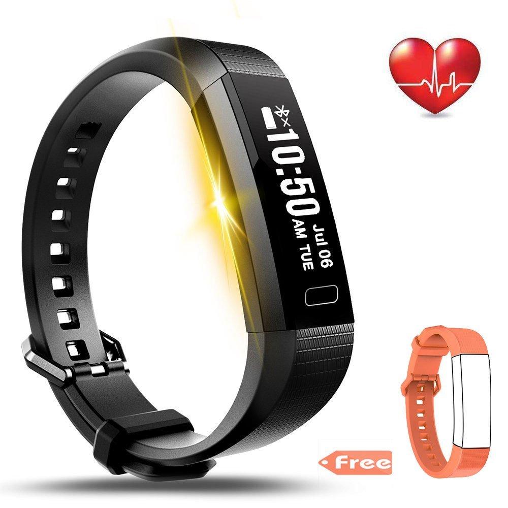 LEMFO Fitness Tracker Bluetooth Smart Watch Heart Rate Monitor Pedometer Bracelet for $16.11