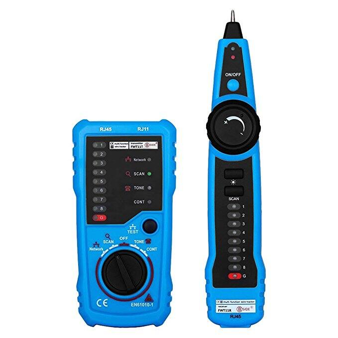 RJ11 RJ45 Cable Tester, Line Finder, Telephone, Wire Tracker, Check Ethernet LAN Cable Tester, Cat5 Cat6 Wire Tester for $12.50 AC