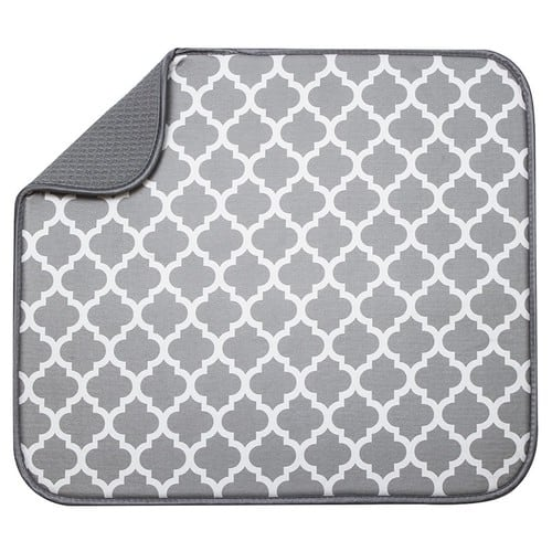 S&T 497400 Microfiber Dish Drying Mat, 16 by 18-Inch, White Trellis - $2.71 & FREE Shipping on orders over $25.
