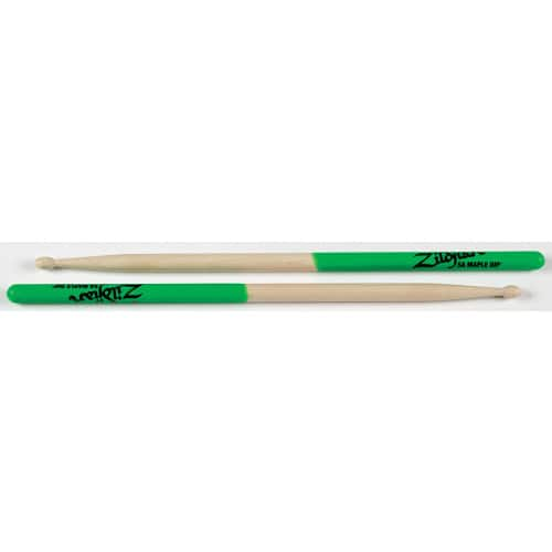 Zildjian 5A Maple Green Dip Drumsticks [Maple Green Tip, Wood] - $5.97 Free Shipping for Prime Members or FREE Shipping on orders over $25