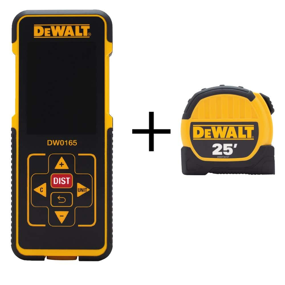 Home Depot - DEWALT - 165 ft. Laser Distance Measurer w/ Color Screen & Bonus 25 ft. x 1-1/8 in. Tape Measure - $59.00 + tax + free shipping/store pickup based on availability.