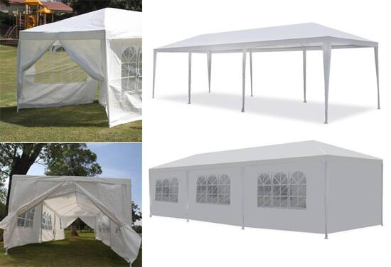 10 x 30 Foot Party Gazebo Tent with 8 Removable Walls - $94.97 Shipped