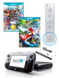 WIi U Refurb Bundle - 32gb system + Mario Kart 8 + Super Smash Bros WIi U + Extra remote - $164.99 - gamestop