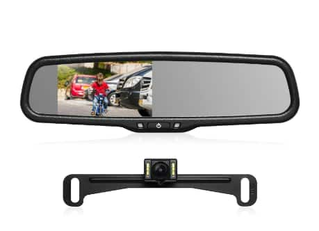 """AUTO-VOX 4.3"""" T2 Backup Camera Kit with OEM Car Rearview Mirror Monitor for $97.99 @ Amazon"""