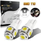 Partsam 2PCS White T10 168 194 2825 5-5050-SMD License Plate LED Lights Lamp Bulbs for $4.61 @Amazon