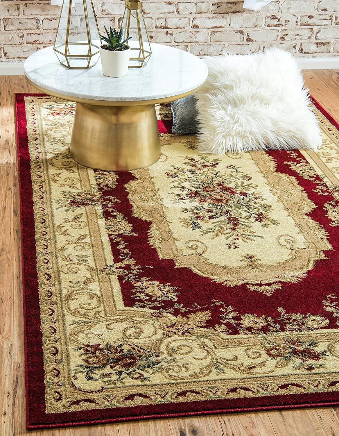 Unique Loom Versailles Collection Traditional Classic Red Area Rug (9' 0 x 12' 0) $109.84