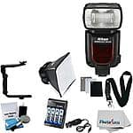 NEW Nikon SB-910 Speedlight Flash for Nikon DSLR Cameras +Diffuser + Bracket Kit $424.95 at ebay