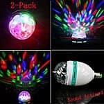 2-Pack E27 3W Colorful Auto Rotating Sound Activated LED Bulb $9.99 + Free Shipping at ebay