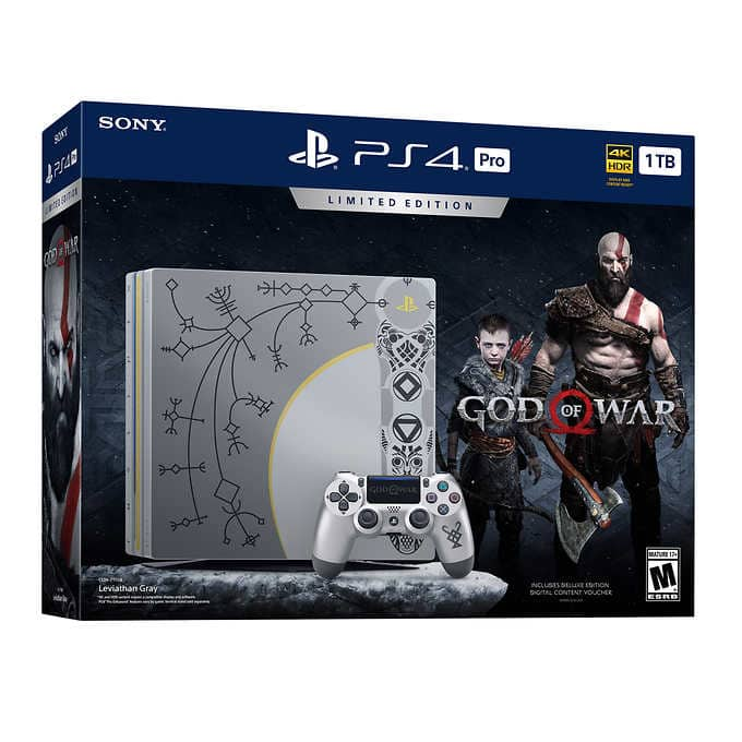Sony PS4 Pro 1TB Limited Edition God of War Bundle Pre-Order for $389.99 @Costco.com