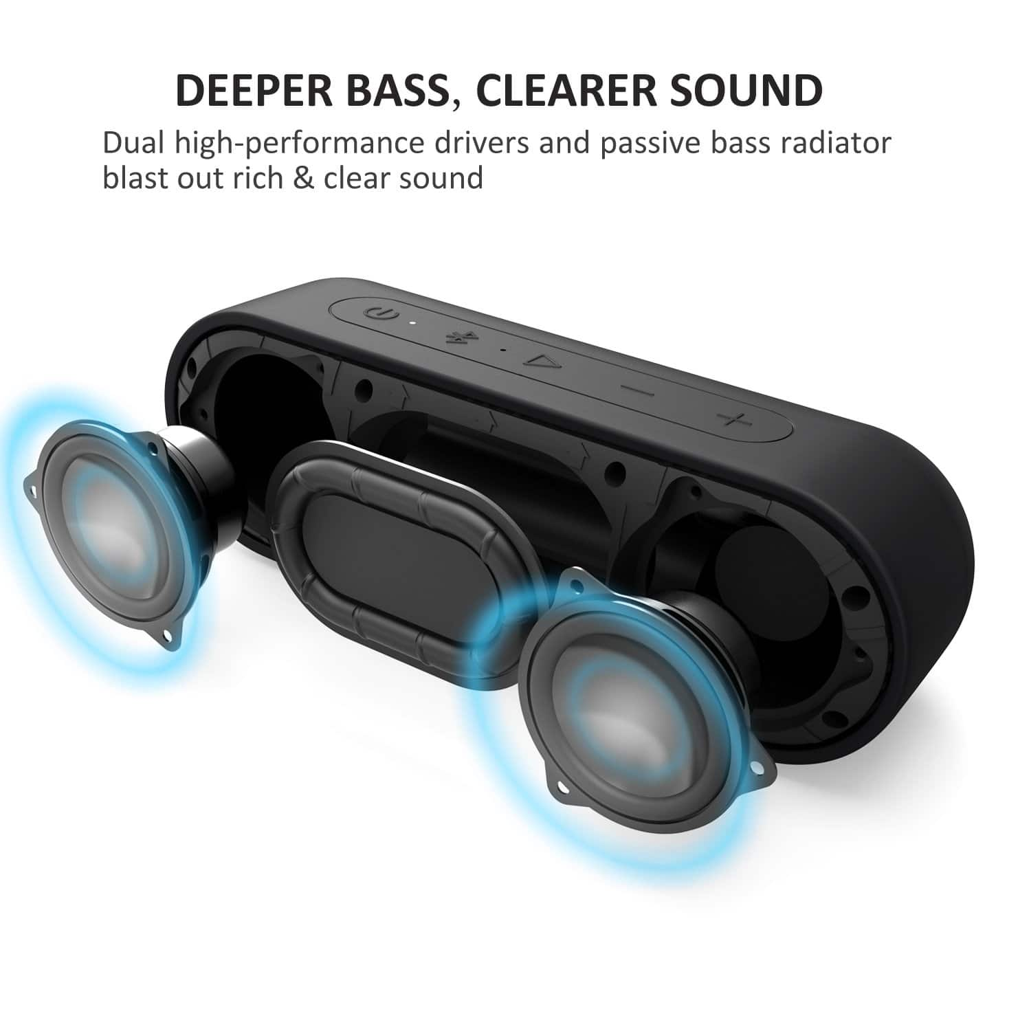 Tribit XSound Go Bluetooth Speakers - 12W Portable Speaker Loud Stereo Sound, Rich Bass, IPX7 Waterproof@Amazon.com $20.09