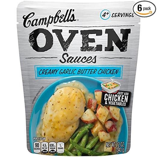 Amazon S&S - Campbell's Oven Sauces, Creamy Garlic Butter Chicken, 12 Ounce (Pack of 6) - $8.12