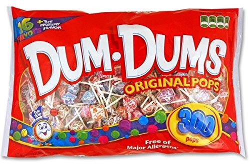 Walmart.com or Amazon Add-On: DUM DUMS Lollipops, Variety Flavor Mix, 300 Count Bag - $6.67