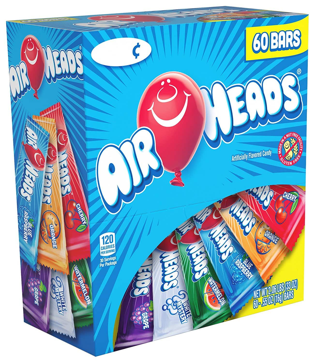 60-Pack of 0.55oz Airheads Candy Bars (Variety Pack) $6.83 w/ S&S + Free S&H