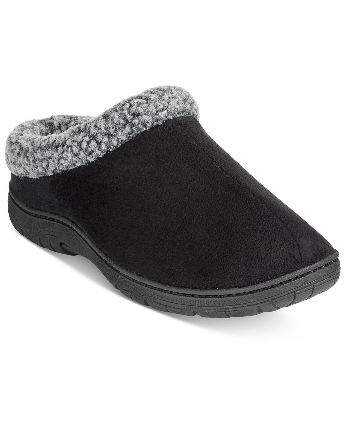 cf535691e2e Macys.com  32 Degrees Men s Faux Suede   Memory Foam Roll-Collar Clog  Slippers Sz. XL -  9.12 with Free Store Pickup